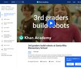 3rd graders build robots at Santa Rita Elementary School