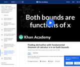 Both bounds being a function of x