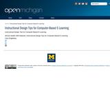 Instructional Design Tips for Computer-Based E-Learning