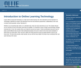 Introduction to Online Learning Tools