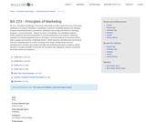 BA 223 - Principles of Marketing