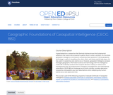 Geographic Foundations of Geospatial Intelligence