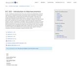 EC 202 - Introduction to Macroeconomics