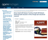 The African Health OER Network: Advancing health education in Africa through open educational resources