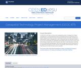 Geospatial Technology Project Management