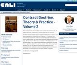 Contract Doctrine, Theory & Practice - Volume 2