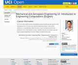 Mechanical and Aerospace Engineering 10: Introduction to Engineering Computations (English)