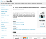 BC Reads: Adult Literacy Fundamental English - Reader 2