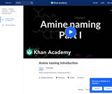 Amine Naming Introduction