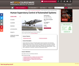 16.422 Human Supervisory Control of Automated Systems, Spring 2005