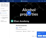 Alcohol Properties