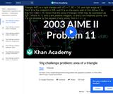 2003 AIME II Problem 11