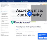 Accreting mass due to gravity simulation