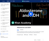 Aldosterone and ADH