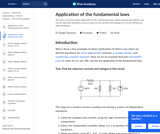 Application of the fundamental laws