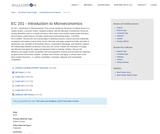 EC 201 - Introduction to Microeconomics