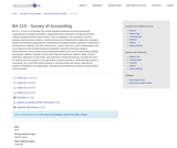 BA 215 - Survey of Accounting