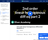 2nd Order Linear Homogeneous Differential Equations 2