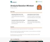 21st Century Skills: Analysis/Solution Mindset
