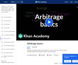Arbitrage Basics