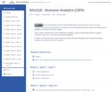 BA 101B - Business Analytics