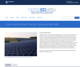 Commercial Solar Electric Systems