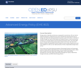 Advanced Energy Policy