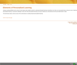 Key Elements of Personalized Learning