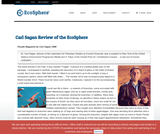 Carl Sagan - Review of the Ecosphere
