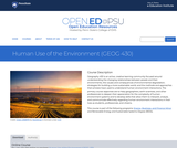 Human Use of the Environment