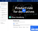 Applying the product rule for derivatives