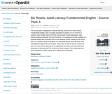 BC Reads: Adult Literacy Fundamental English - Course Pack 3