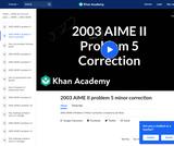 2003 AIME II Problem 5 Minor Correction