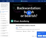 Backwardation Bullish or Bearish