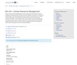 BA 224 - Human Resource Management