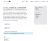 GS 106 - Introduction to Physical Geology