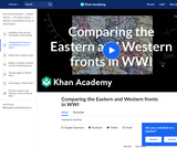 Comparing the Eastern and Western Fronts in WWI