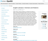 English Literature: Victorians and Moderns