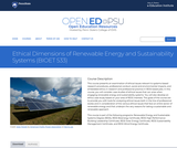 Ethical Dimensions of Renewable Energy and Sustainability Systems