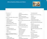 African American History and Culture