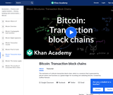 Bitcoin: Transaction block chains