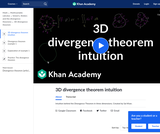 3-D Divergence Theorem Intuition