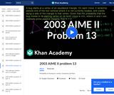 2003 AIME II Problem 13