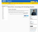 BioSci M121: Immunology with Hematology