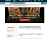 History of Survivance: Upper Midwest 19th-Century Native American Narratives