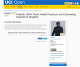 PubHlth 195W: Public Health Practicum and Culminating Experience (English)