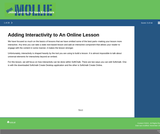 Adding Interactivity to an Online Lesson