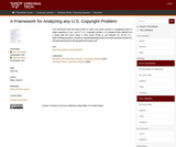 A Framework for Analyzing any U.S. Copyright Problem