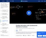 Applying the fundamental theorem of calculus