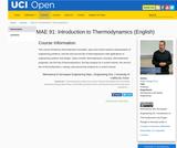 MAE 91: Introduction to Thermodynamics (English)